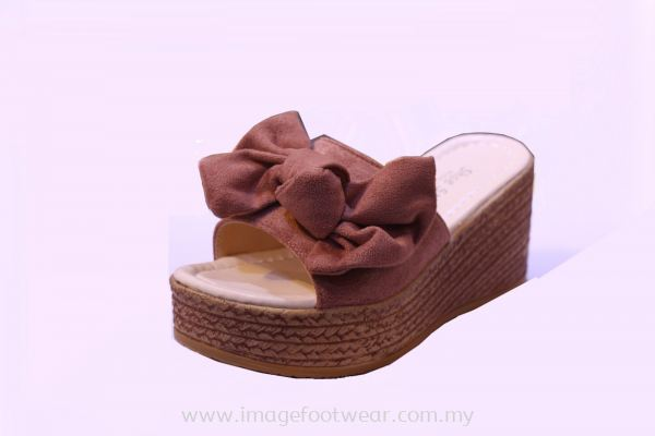 Lady Trendy 2.5 inch Comfort Slipper -TF 018-7- PINK Colour