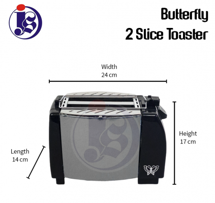 Butterfly 2 Slice Electric Toaster