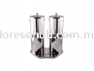 DOUBLE STAINLESS STEEL JUICE DISPENSER - SUNNEX JUICE DISPENSER  FOOD SERVICE & EQUIPMENT
