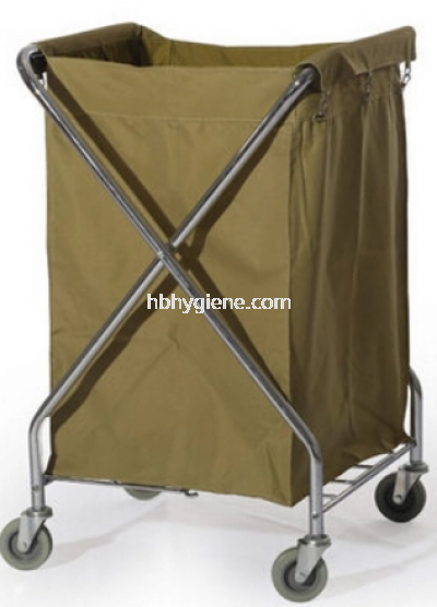 X-SHAPE CHORME TROLLEY C/W CANVAS BAG
