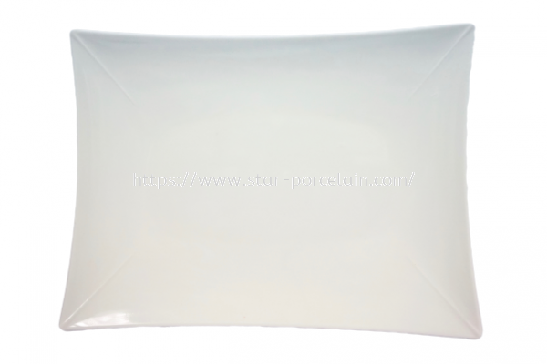 "11""RECTANGLE PLATE(WHITE)"