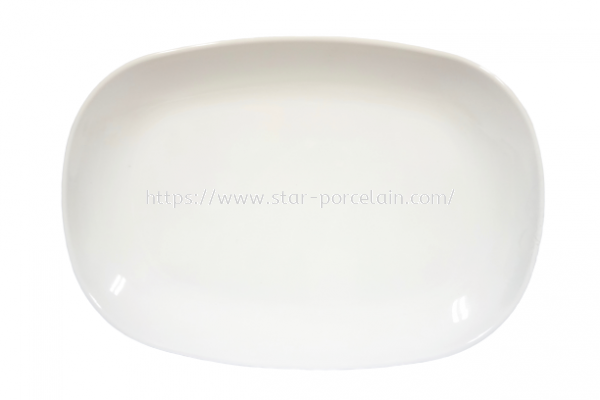 "8.5"" RECTANGLE  PLATE (WHITE)"