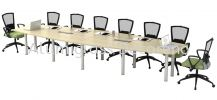 Boat-Shape Conference Table BBC-48 B-Series (AVS) Wood Furniture