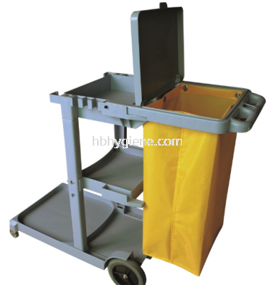 JT 1000 - JANITOR CART TROLLEY C/W COVER