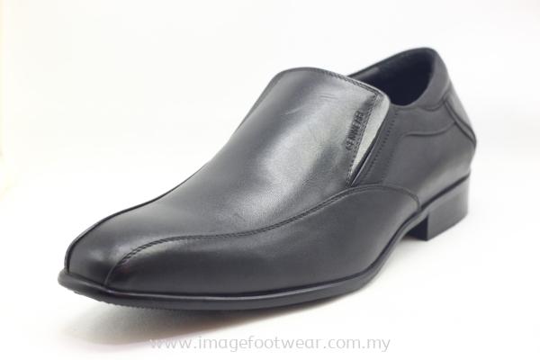 GENWEAR Full Leather Men Shoe- LM-3214- BLACK Colour