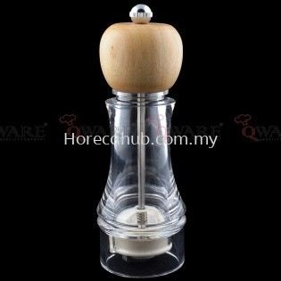 ACRYLIC WOODEN CAP PEPPER MILL