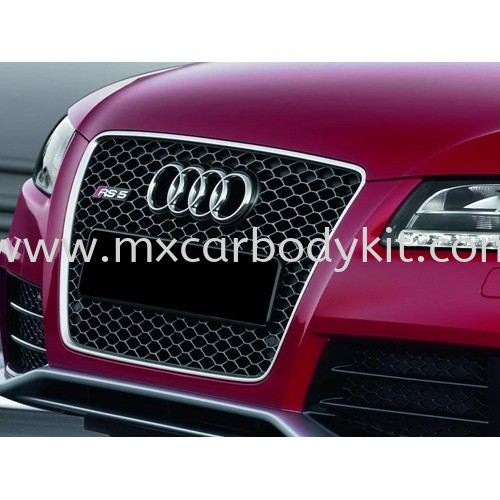 AUDI A5 B8 RS STYLE FRONT GRILLE CHROME / BLACK A5 AUDI