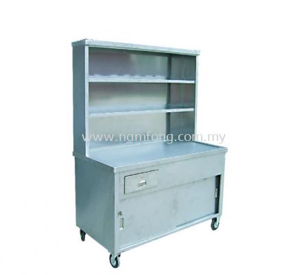 Tea Counter Stall 2 Tier (S/Steel)