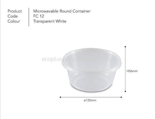 12oz Round Container with Lid