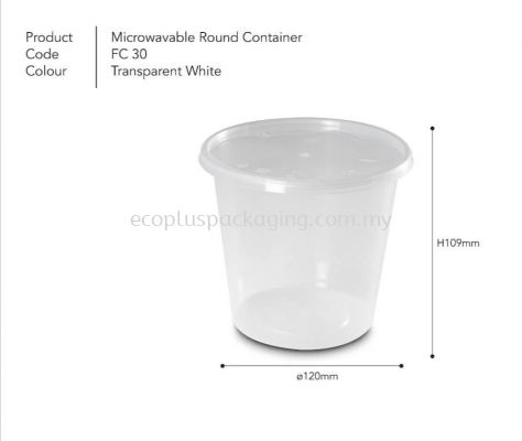 30oz Round Container with Lid