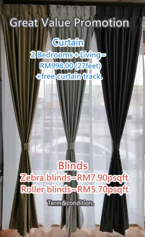 Curtain and Blinds Promotion
