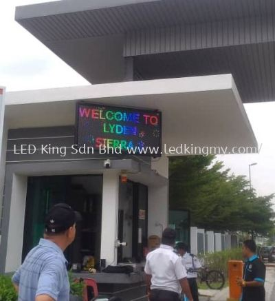 Outdoor Full Color LED Screen For Guard House