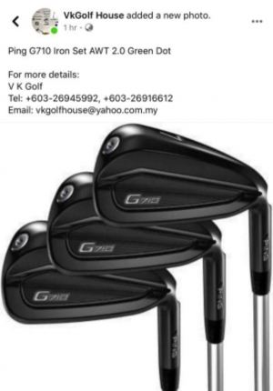 Ping G710 Steel and Graphite Irons are Available Exclusively at V K Golf...