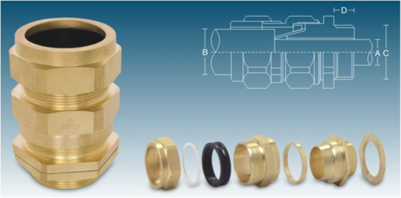 """Brass Cable Glands """"CW"""" Type Single Compression"""