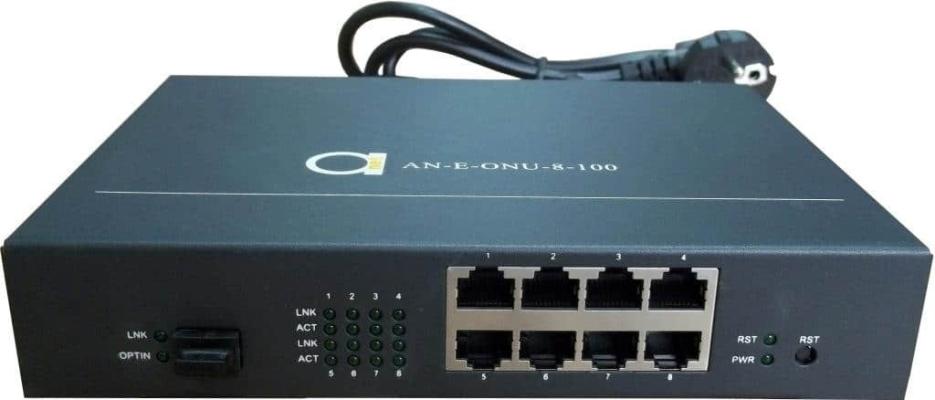 8 x 10/100 Fast Ethernet GEPON ONU unit