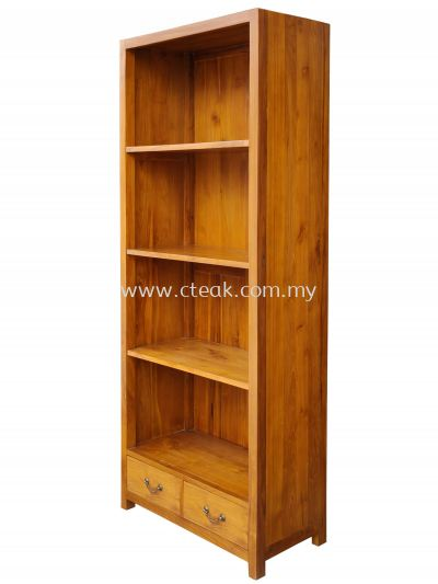 2 Drawers Bookcase Woodback
