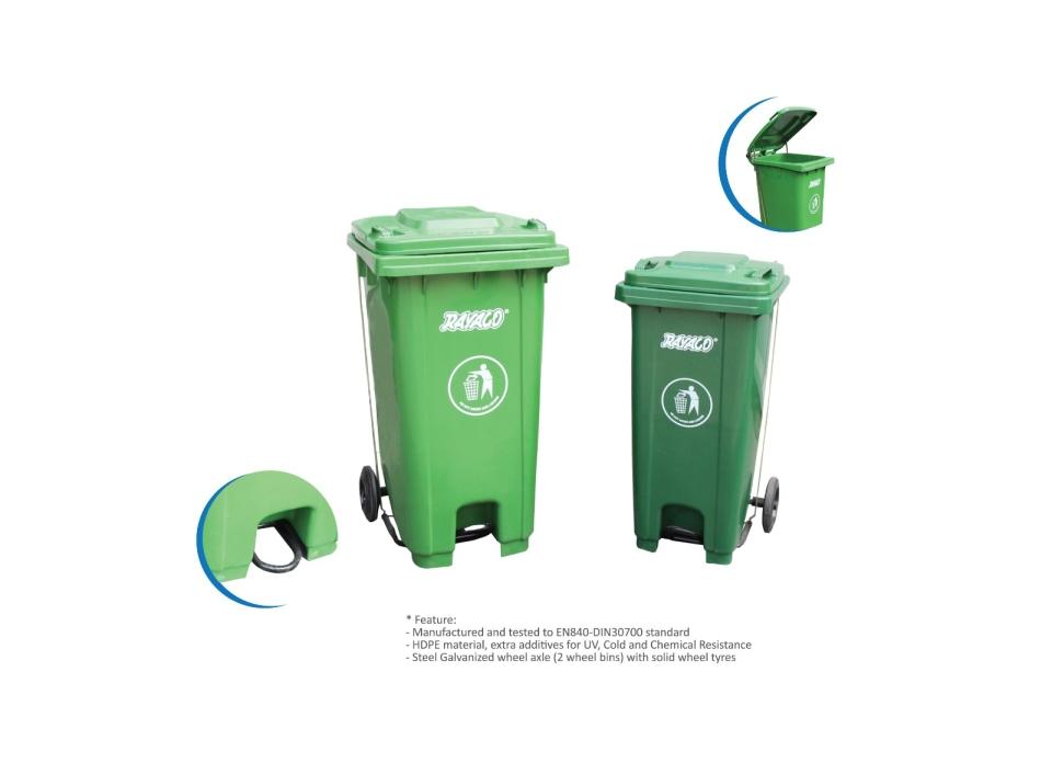 (R1-240U) Commercial Pedal Dustbin Dustpan, Basket & Bins Series