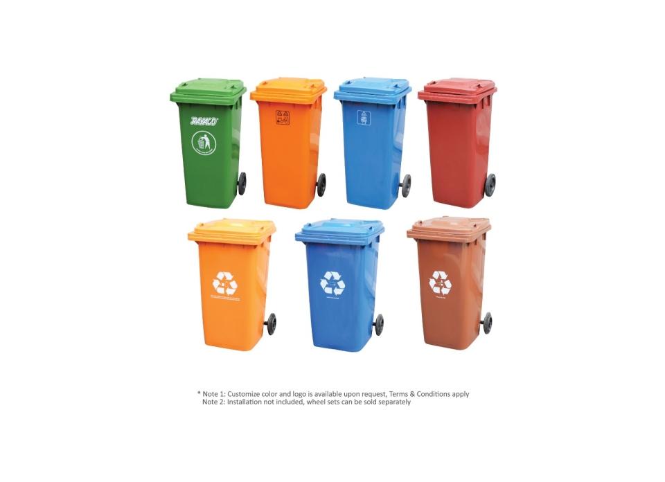 (R1-240BR) Commercial Recycled Dustbin Dustpan, Basket & Bins Series