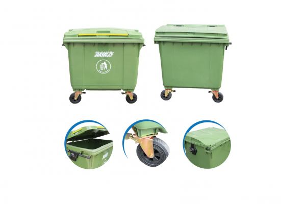 (R1-1100G) Commercial Heavy Duty Dustbin