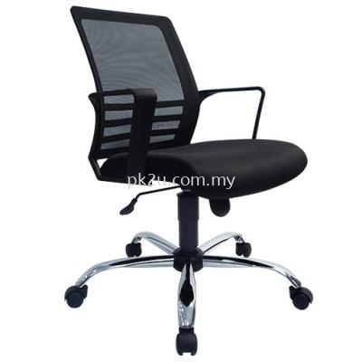 PK-BGMC-25-L-L1-Mesh 25 Low Back Mesh Chair (ChromeBase)