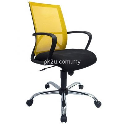 PK-BGMC-19-L-L1- Mesh 17 Low Back Mesh Chair(Chrome Base/Plastic Base)