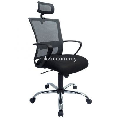 PK-BGMC-20-H-L1- Mesh 18 High Back Mesh Chair(Chrome Base/Plastic Base)