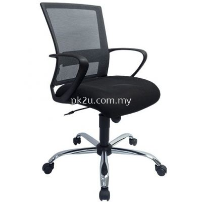 PK-BGMC-20-L-L1- Mesh 18 Low Back Mesh Chair(Chrome Base/Plastic Base)