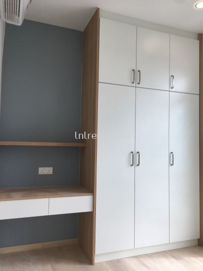 Custom made wardrobe with plywood laminate design in PJ / KL