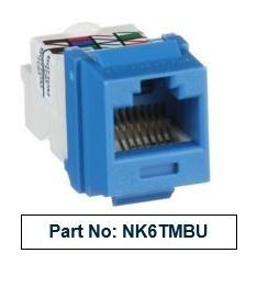 PANDUIT Netkey Cat6 Blue UTP Modular Jack