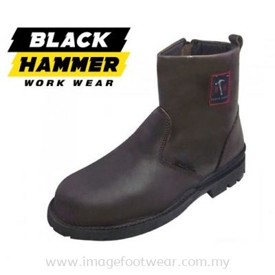 Men Safety High Cut With Zip BH4664 -BROWN Colour