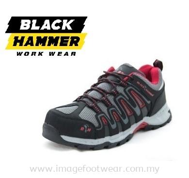 BLACK HAMMER TREK II Men Safety Shoes NEW BH201601- BLACK/ GREY Colour