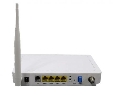 GPON ONT HGU with 4 x Fast Ethernet 1 POTS phone port, CATV port and Wi-fi support