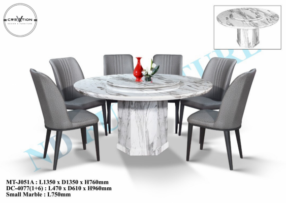 MT-J051A Table + DC-4077 Dining Chair