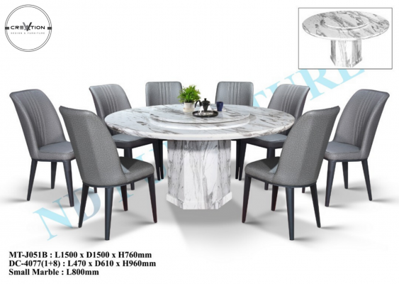 MT-J051B Table + DC-4077 Dining Chair