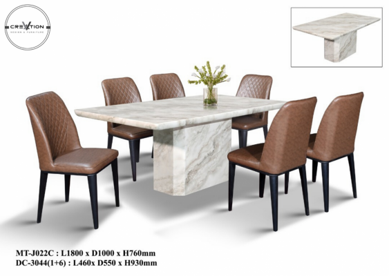 MT-J022C Table + DC-3044 Dining Chair