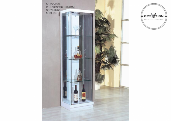 YG-DP6306  1 Door Display Cabinet (Blk)