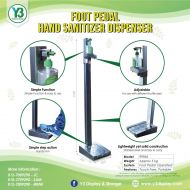 Stainless Steel Sanitizer Stand-Footstep