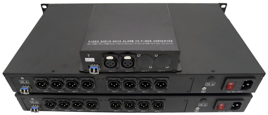 Cascading (Multicast) 2 IN 8 OUT balanced audio over fiber Fiber Optical Transmitter Set