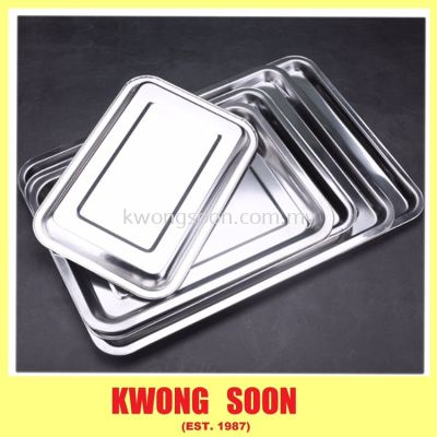 Stainless Steel Food Tray Buffet Tray Deep Tray Shallow Tray Silver Tray