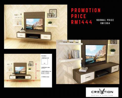 CR-05 - 2400MM Mounted TV Cabinet