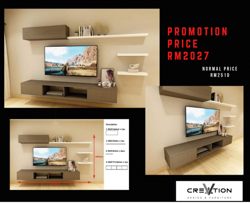 CR-14 - 3000MM Mounted TV Cabinet