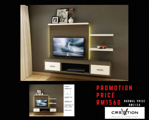 CR-12 1800MM Mounted TV Cabinet