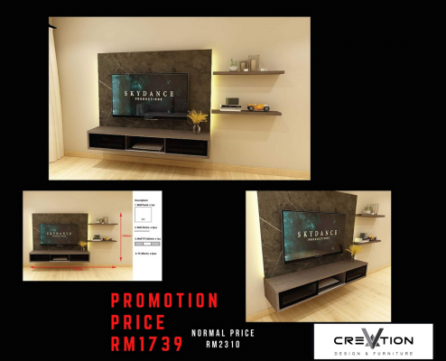 CR-03 - 2700MM Mounted TV Cabinet