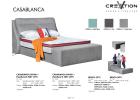 5ft Casablanca Divan + 3007 Headboard + Bench Queen Size Bed Bed Bedroom Furniture
