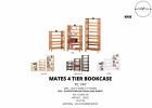 Mates 4 Tier Bookcase (PC 747) Study Room Furniture