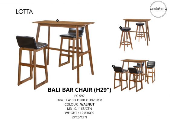 "Bali Bar Chair (29"")"
