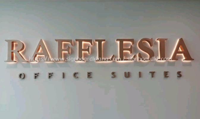 Fafflesia office suites Eg 3D box up led backlit lettering signage at landmark bukit tinggi klang