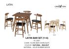 Latin Bar Set (1+4) Bar Counter & Bar Chair Living Hall Furniture