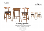 "Flora Bar Chair (H29"") Bar Counter & Bar Chair Living Hall Furniture"