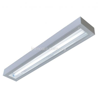 VSL T8 LOWBAY FITTING MIRROR ACRYLIC DIFFUSER IP54